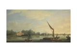The Thames at Chelsea, 1784 Giclee Print by Thomas Whitcombe