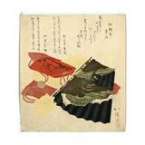 Ogi to Inro Giclee Print by Toyota Hokkei