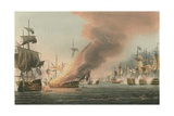 Battle of Trafalgar, 1805 Lámina giclée por Thomas Whitcombe