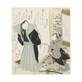 Getting Dressed for a New Year Celebration Giclee Print by Toyota Hokkei