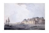 Ramnagar, Near Benares [Varanasi], Uttar Pradesh, C. 1788-9 (Pencil, Pen and Black Ink, W/C) Reproduction procédé giclée par Thomas & William Daniell