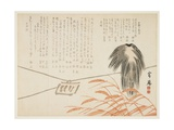 Scarecrow in a Rice Field, 1862 Giclee Print by  Unrei
