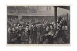 A Meeting of the London County Council Reproduction procédé giclée par Thomas Walter Wilson