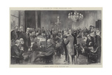 In Clubland, the Travellers' Club, a General Meeting of the Travellers' Club Reproduction procédé giclée par Thomas Walter Wilson