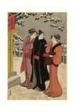 Matsuchiyama No Yukimi Giclee Print by Torii Kiyonaga