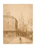 Castle Garth, Newcastle Upon Tyne Giclee Print by Thomas Miles Richardson
