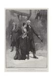 The Return of Olivia, the Vicar Dismisses Squire Thornhill Reproduction procédé giclée par Thomas Walter Wilson