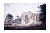A Gate Leading to a Mosque, Chunargarh, Uttar Pradesh, C. 1789-90 (Pencil and W/C) Reproduction procédé giclée par Thomas & William Daniell