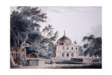 The Mausoleum of Prince Khusrau, Allahabad, Uttar Pradesh, (Pencil and W/C) Reproduction procédé giclée par Thomas & William Daniell