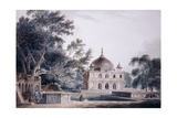 The Mausoleum of Prince Khusrau, Allahabad, Uttar Pradesh, (Pencil and W/C) Lámina giclée por Thomas & William Daniell