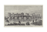 The Royal Jubilee Exhibition, Newcastle-On-Tyne, the Old Tyne Bridge Giclee Print by Thomas Harrington Wilson