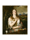 The Penitent Magdalene, C.1555-65 Giclée-tryk af  Titian (Tiziano Vecelli)
