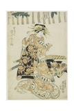 The Actor Iwai Matsunosuke as a Courtesan Giclee Print by Utagawa Kunisada