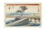 Yokkaichi--Mie River, C.1833 Giclee Print by Utagawa Hiroshige