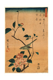 Tsubaki Ni Uguisu Reproduction procédé giclée par Utagawa Hiroshige
