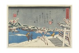 Snow at Matsuchi Hill, 1847-1852 Giclee Print by Utagawa Kunisada