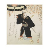Actor Ichikawa Danjuro VII as Sukeroku, Early 19th-Mid 19th Century Giclee Print by Utagawa Kunisada