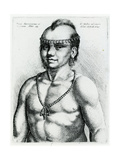Virginian Indian, 1645 Lámina giclée por Wenceslaus Hollar