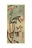 Secchu Tsubaki Ni Suzume Reproduction procédé giclée par Utagawa Hiroshige