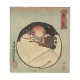 Hotei God, C. 1830-1844 Giclee Print by Utagawa Kunisada