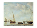 Shipping in a Calm Giclée-Druck von Willem Van De Velde The Younger
