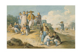 A Group of Chinese Watching the Earl Macartney's Embassy to China Giclee Print by William Alexander
