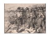 Bayonet Charge at Talavera Ad 1809 Reproduction procédé giclée par William Barnes Wollen