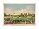 A Cotton Plantation on the Mississippi, Pub. 1884 Giclée-tryk af William Aiken Walker