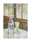 Cafe Table with Absinthe, 1887 Lámina giclée por Vincent van Gogh