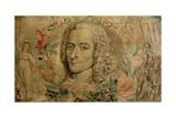 Francois Marie Arouet De Voltaire, C.1800 Reproduction procédé giclée par William Blake