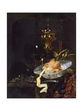 Still Life with an Oriental Rug, Early 1660s Giclee Print by Willem Kalf