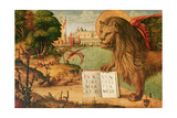 Detail of the Lion of St. Mark, 1516 Giclée-tryk af Vittore Carpaccio