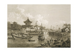 Chinese Barges of the Embassy Passing Through a Sluice of the Grand Canal Giclee Print by William Alexander