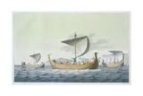 Fleet of William the Conqueror Giclee Print by Vittorio Raineri