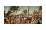 The Martyrdom of the Pilgrims and the Funeral of St. Ursula, from the St. Ursula Cycle, 1490-94 Giclée-tryk af Vittore Carpaccio
