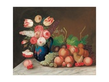 Still Life with Fruit and Flowers, C.1840 Giclee Print by William Buelow Gould
