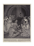 The British Mission to Kano, an Audience of the King Giclée-tryk af William Hatherell