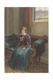 A Lady Reading, Called Mrs William Hunt, C.1835 (Gouache and W/C over Graphite on Paper) Giclee Print by William Henry Hunt