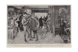 Awaiting Orders for the Front, a Detachment of Imperial Yeomanry at Norwich Giclee Print by William Hatherell