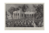 In Memory of Gordon, the Service Among the Ruins of the Residency at Khartoum Giclee Print by William Hatherell