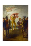 The Landing of Richard II at Milford Haven, C.1793-1800 Giclee Print by William Hamilton