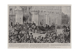 The Queen's Visit to London, Her Majesty's Arrival at Buckingham Palace Giclee Print by William Hatherell