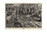 After a Day's Sport, Examining the Catches in a Competition at a London Angling Club Giclee Print by William Hatherell