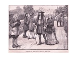 Costumes of the Time of William and Mary Ad 1694 Reproduction procédé giclée par William Barnes Wollen