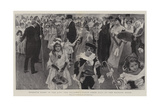 Twelfth Night in the City, the Children's Fancy Dress Ball at the Mansion House Giclee Print by William Hatherell