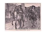 Arrival of Charles at Oxford Ad 1681 Reproduction procédé giclée par William Barnes Wollen