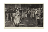 Her Majesty's Drawing-Room at Buckingham Palace, the Moment of Presentation Giclee Print by William Hatherell