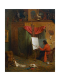 Self Portrait in the Studio Giclee Print by William Holbrook Beard