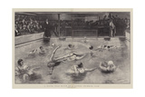 A Water Polo Match at a London Swimming Club Giclee Print by William Small