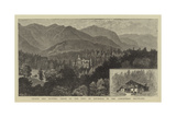 Palace and Hunting Lodge of the King of Roumania in the Carpathian Mountains Reproduction procédé giclée par William Henry James Boot